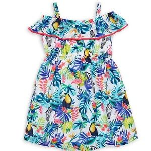 NWT Tropical Off the Shoulder Sundress, Size 6